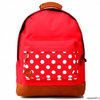 Рюкзак Mi-Pac Pocket Prints Polkadot Bright Red